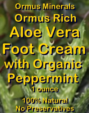 Ormus Minerals - Ormus Rich Aloe Vera Foot Cream with Organic Peppermint