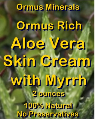 Ormus Minerals -Ormus Rich Aloe Vera Skin Cream with MYRRH