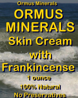 Ormus Minerals -Ormus Rich Minerals Skin Cream with FRANKINCENSE