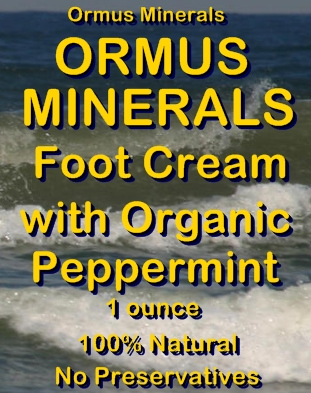 Ormus Minerals Ormus Rich Mineral FOOT Cream with Organic Peppermint