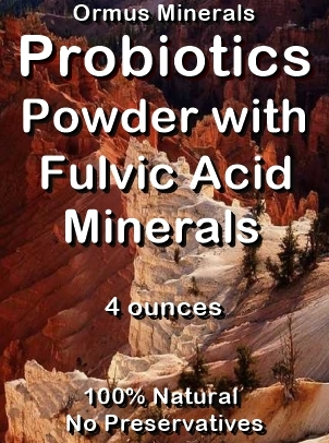 Ormus Minerals Probiotics Powder with Fulvic Acid Minerals